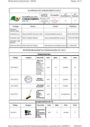 Página 1 de 31 Olimpiada do Conhecimento - SENAI 23/04/2013 ...