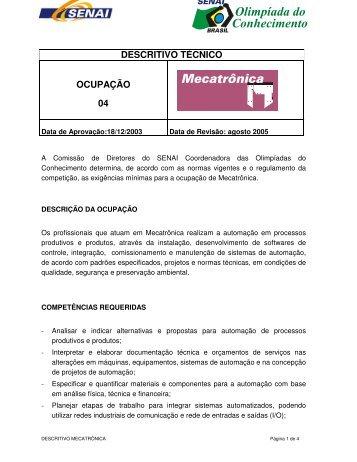 DESCRITIVO TÉCNICO OCUPAÇÃO 04 - nead@senairs.org.br