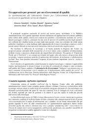 Un approccio per processi per un eGovernment ... - Antonio Candiello