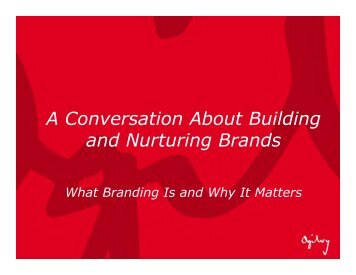 A Conversation about Building and Nurturing Brands
