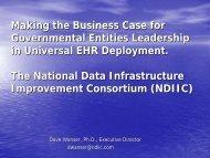 David Wanser, Ph.D. - State Systems Development Program VIII ...
