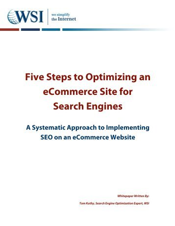Five Steps to Optimizing an eCommerce Site for Search Engines