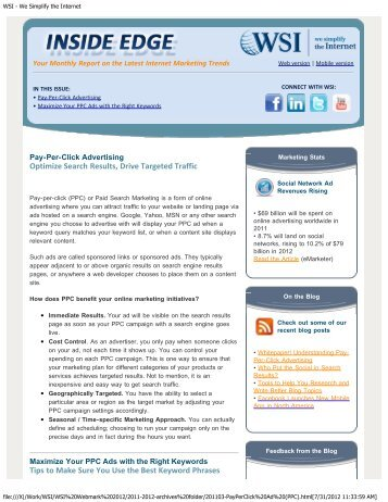 Pay-Per-Click Advertising - WSI Webmark