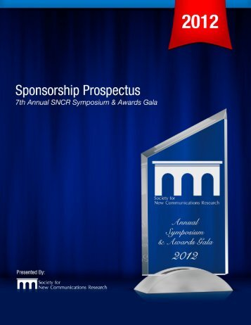 Read the 2012 Sponsorship Prospectus here. - Society for New ...
