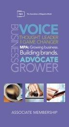 Associate Membership Brochure - MPA