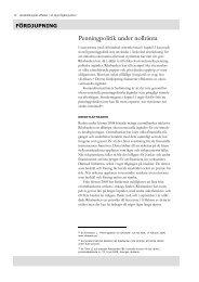 Penningpolitik under nollränta - Konjunkturinstitutet
