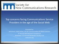 company - Society for New Communications Research