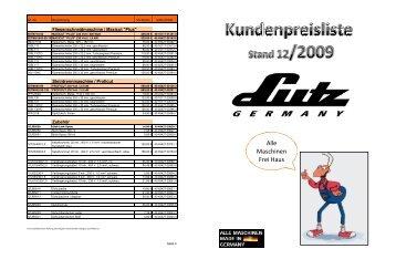 Endkunden-Preisliste 12-2009.xlsx - LUTZ MASCHINEN