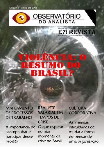 OBSERVATORIO DO ANALISTA EM REVISTA - 4 EDICAO