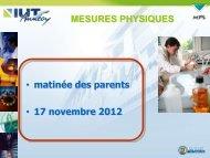 Diaporama de présentation - Université de Savoie