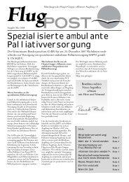 FlugPOST - Hospiz-Gruppe Albatros