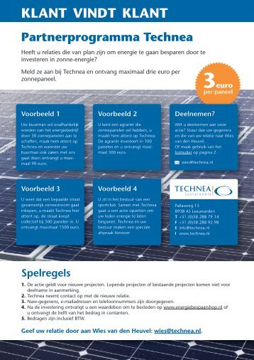 KLANT VINDT KLANT - Energie Onafhankelijk