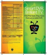 Smart DVR, Brilliant TV. - TiVo
