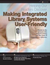 Making Integrated Library Systems User-Friendly Making Integrated ...