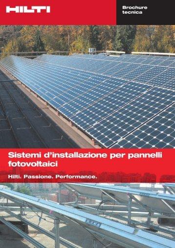Sistemi d'installazione per pannelli fotovoltaici