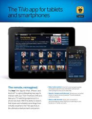 The TiVo app for tablets and smartphones