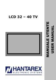 Hantarex TV Manuale LCD 32-40 WMC - tecno elettrica ferrari