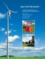 Skystream - ECI Wind and Solar