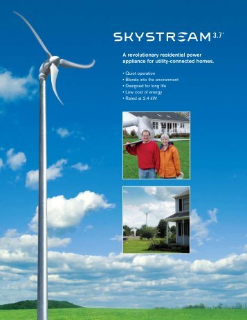 Skystream - ECI Wind and Solar