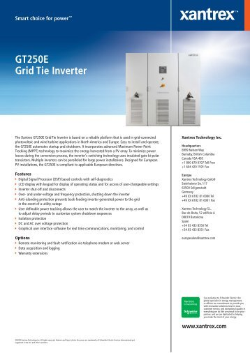 GT250E Grid Tie Inverter - ECI Wind and Solar