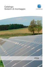 Catalogo Sistemi di montaggio 2009 - Solarway srl