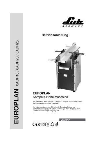 A4 Europlan 01.01.2010 - LUTZ MASCHINEN