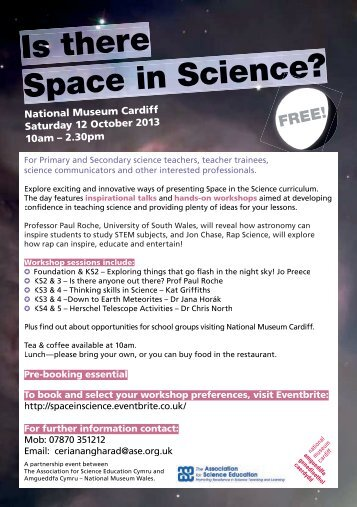 National Museum Cardiff Saturday 12 October 2013 10am – 2.30pm