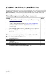 Checklista för elektroniska anbud via Oreo - Arvika