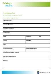 Ansökan bidrag för föreningar och organisationer - Arvika