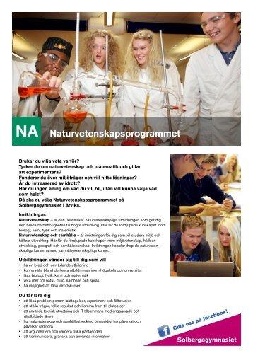 NA Naturvetenskapsprogrammet