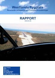 Rapport Westlanda flygplats - Arvika
