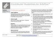 InfoPlus Contributor Guidelines
