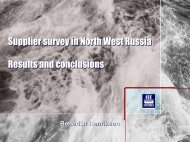 Supplier survey in North West Russia Results and ... - Barents 2010