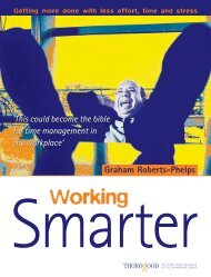 Working Smarter Getting more done with less effort, time ... - cse crafts