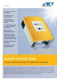 Sunny Island 5048 - Neuer Inselwechselrichter für ... - PVT-Austria