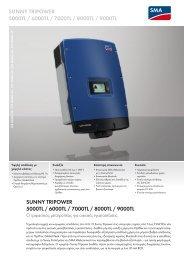 SUNNY TRIPOWER 5000TL / 6000TL / 7000TL / 8000TL / 9000TL ...