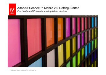 Adobe® Connect™ Mobile 2.0 Getting Started - Adobe Connect