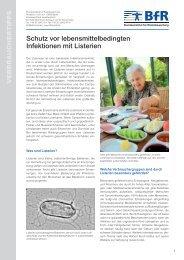 verbrauchertipps schutz vor lebensmittelbedingten infektionen mit listerien