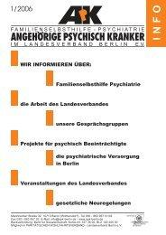 Bewegung tut not! - Angehörige psychisch Kranker Landesverband ...