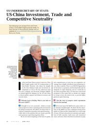 US-china Investment, trade and competitive ... - AmCham China