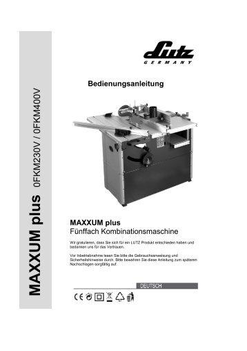 MAXXUM plus - LUTZ MASCHINEN