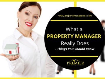 Property Management in Kanas City - Things You Should Know!