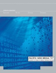 PACIFIC NEW MEDIA - Outreach College