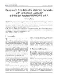 Design and Simulation for Matching Networks with Embedded ...