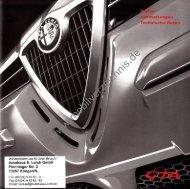 Preisliste Alfa Romeo 156 GTA, 2/2002 - mobilverzeichnis.de