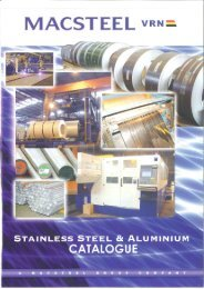 Macsteel VRN - Stainless Steel & Aluminium Catalogue