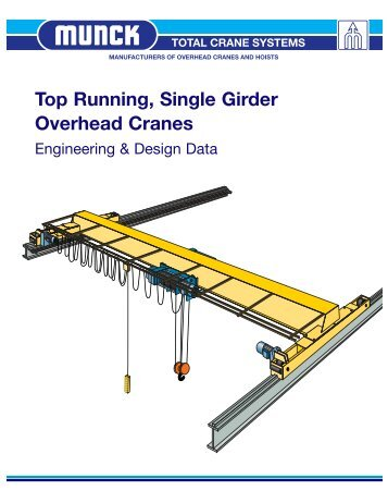 Top Running, Single Girder Overhead Cranes - Total Crane