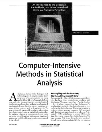 Computer-intensive Methods In Statistical Analysis ... - IEEE Xplore