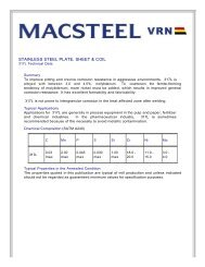 STAINLESS STEEL PLATE, SHEET & COIL - Macsteel