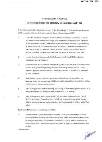 Statutory declaration Commonwealth of Australia - Montara ...